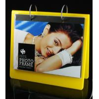 Cheap calender style acrylic block photo frame yellow for sale