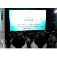 Quality Snow Effect 220V Mobile 5D Cinema System , Luxury 5D Mobile Seats wholesale