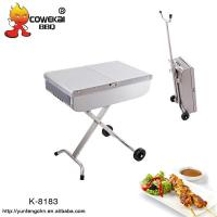 China Portable trolley charcoal bbq grill on sale