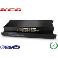 Quality FC UPC Fiber optic media converter Video Over Fiber Media Converter Rack Mounting wholesale