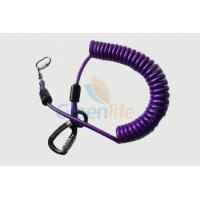 Quality Purple Nylon Retractable Tool Lanyard Plastic Covered With Aviation Aluminum Hook wholesale