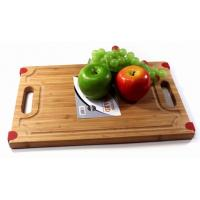 China bamboo cutting chopping board with silicone on sale