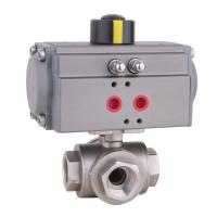 Quality Pneumatic Ball valve -Three Way suit for water ,oil ,air ,acid ,alkali wholesale