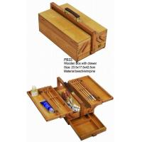 Quality Commecial Artist Storage Box With Drawer , Wooden Craft Storage Box For Paintings wholesale