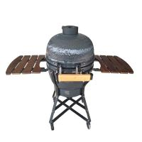 Quality Outdoor Kamado Barbecue Grill , Adjustable Height Egg Shaped Grill wholesale