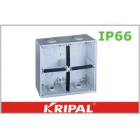 Quality Grey Small IP66 Outdoor Junction Box / Plastic Electrical Junction Box wholesale