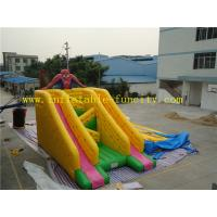 Quality Commercial Spider Man Inflatable Dry Slides Giant , Inflatable Slides For Adult and Kids wholesale