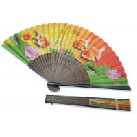 Cheap Souvenir Gift Hand Held Paper Fans Chinese Traditional With Varnish Both Side for sale
