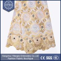 China New arrival 2015 high quality african swiss voile lace embroidered fabric for wedding on sale