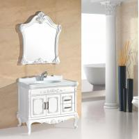 Quality Customized shapes PVC bathroom cabinet 15 / 18mm door thickness with basin table wholesale