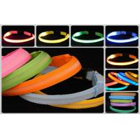 Quality Eco - Friendly Optic Fiber Visible Light LED Pet Collar / Luminous LED Dog Collar wholesale