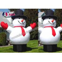 Quality CE / SGS Inflatable Holiday Decor Blow Up Cartoon Snow Man For Christmas wholesale