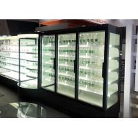 Buy cheap Remote Multideck Chillers With Doors , Superstore Glass Door Fridge Freezer from wholesalers