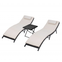 Quality SGS Approval 77inch Depth Outdoor Patio Chaise Lounges wholesale