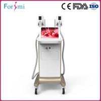 Buy cheap Quality warranty 2 handles -15~5 Celsius body contouring fat freezing cryolipolysis machine for clinic use from wholesalers