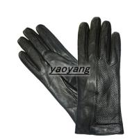 China 2015 new style and fasion and good quality ladies black leather gloves on sale