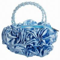 Buy cheap Handbag with Rose Decoration, OEM Orders are Welcome from wholesalers