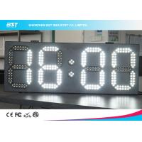 Quality White And White Led Clock Digital Clocks With Large Display , Long Lifespan wholesale