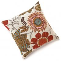Cheap Gerbera Chenille 18?x18? Square Colorful Floral Throw Pillow , Decorative Couch Pillows of ...