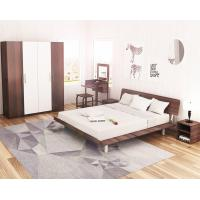 Quality Simple Japanese tatami type bed 1.5 meters MDF with metal double bed and 1.8 single bed 1.2 modern creative walnut color wholesale