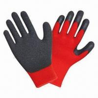 Quality Latex protective working gloves with 10 gauge red T/C shell wholesale
