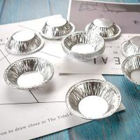 Quality 69mm Small Cake Baking Containers , Disposable Aluminum Foil Egg Tart Containers wholesale