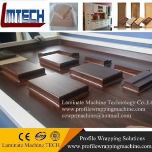 China vinyl coated cabinet doors vacuum membrane press machine on sale
