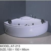 Quality 750W surfing pump Air Bubble Bathtubs corner 6 big jets adjustable Shower Holde wholesale