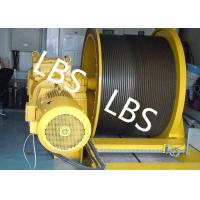 Quality ISO9001 Electric Winch Machine With Lebus Grooving For Platform And Emergency Lifting wholesale