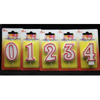 Quality Number Birthday Candles With Red Edge And Plastic Holder wholesale