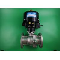 Quality Water Powered Two Way Ball Valve Stainless Steel 316L Automatic ON OFF wholesale