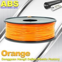 Quality Orange  3D Printing Materials 1.75mm ABS 3D Printer Filament In Roll wholesale