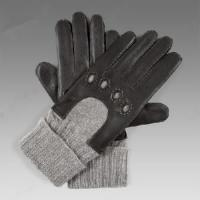China Men′s Leather Gloves with Cashmere Cuff (NF10-M26) on sale