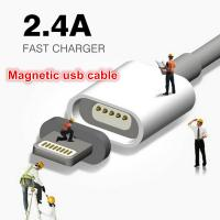 Quality Super Fast 2.4A Magnetic USB Data Cable For Iphone Samsung Android wholesale