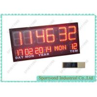Quality Temperature and Date with Led Digital Clock Display , Ultra Bright red LED wholesale