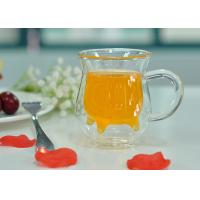 Quality Handle Double Wall Borosilicate Glass , Milk Double Layer Glasses wholesale