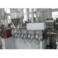 Quality PVC Corrugated Pipe Making Machine Twin Screw Extruder , Single Wall PVC Pipe Extrusion Machine wholesale