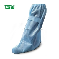 China Anti Bacteria PP PE 60gsm Disposable Waterproof Boot Covers on sale