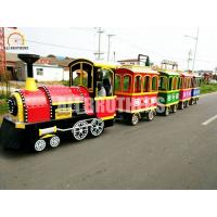 Quality Indoor Battery Trackless Train Ride , Kiddie Train Ride For Shopping Mall wholesale