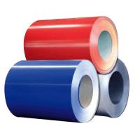 China Prepainted Red / Blue Color Coated Steel Coil Q195 / Q235 Material For Advertising on sale