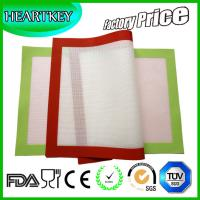 China Factory Price 40x30cm Half-sheet Oven Silicone Baking Liner Mat With Fiberglass on sale