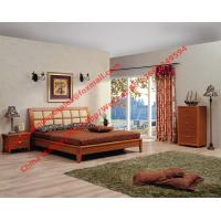Quality Apartment Bedroom Furniture suite by leather pad and cherry solid wood bed with drawer chest wholesale