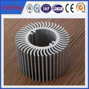 China Aluminum round heat sink extrusion, Custom made round clear anodized aluminum heatsink on sale