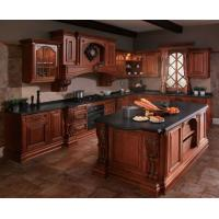 Quality Oak solid wood kitchen cabinet,Raised kitchen cabinet door,North-Am style kitchen cupboard wholesale