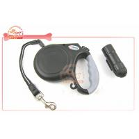 China Detachable Safety Led Flashlight Retractable Cord Dog Leash With Soft grip Handle on sale