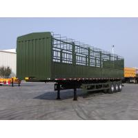China tri axle semi trailer air bag suspension fence trailer for sale on sale