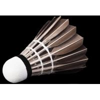 China Goose feather shuttlecocks, high quality for long playing, 12 pcs for each dozen on sale