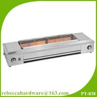 Quality Kitchen equipment / factory price stainless steel smokelesss bbq gas grill with fan wholesale