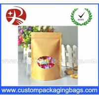 China Waterproof Recyclable Stand Up Pouches With Zipper And Shaped Window on sale