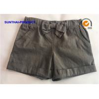 Quality 100% Cotton Baby Jogging Bottoms Woven Main Fabric Knotted Bow Fold Cuff Short wholesale